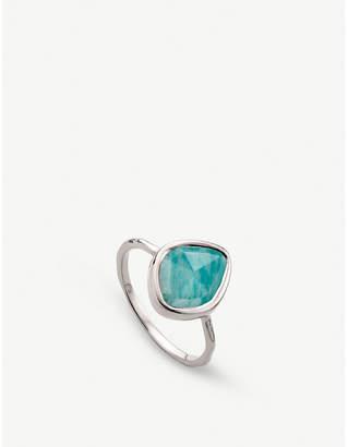 Monica Vinader Siren amazonite-gemstone sterling silver ring