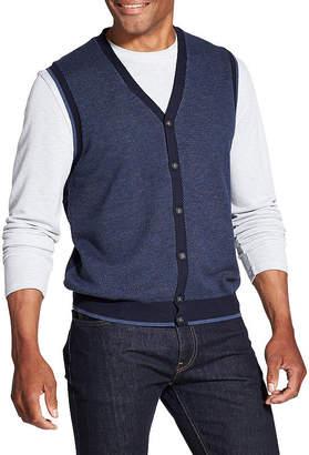Van Heusen Novelty Button Front Sweater Vest Vest