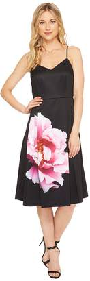CeCe Leah - Sleeveless Flower Panel A-Line Dress Women's Dress