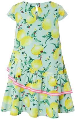 Monsoon Leonie Lemon Dress - Turquoise