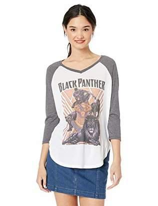 Marvel Multi/Color//Official Panthers of Black Junior's Fashion Raglan