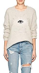 Raquel Allegra Women's Eye-Motif Alpaca-Blend Sweater-Natural