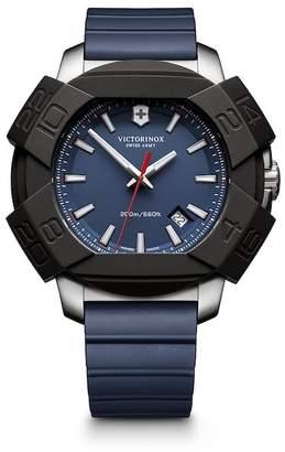Victorinox Men's I.N.O.X. Analog Quartz Rubber Strap Watch, 43mm