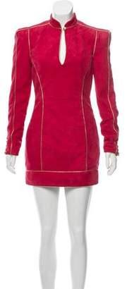 Balmain Suede Mini Dress