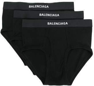 Balenciaga ribbed logo briefs set