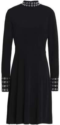 MICHAEL Michael Kors Eyelet-Embellished Ponte Dress