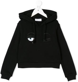 Chiara Ferragni Kids Flirting cropped hoodie