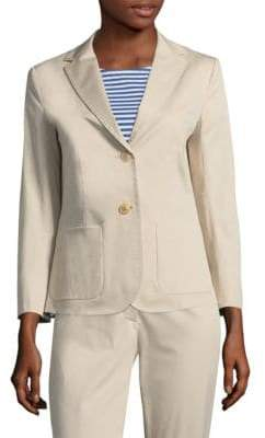 Max Mara Livigno Stretch Cotton Blazer