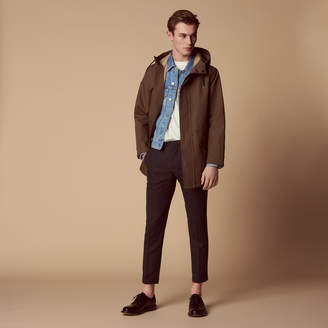 Sandro Long parka in technical fabric