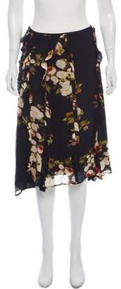 Preen Line Floral Knee-Length Skirt