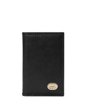 b3b983877eda Gucci Leather Bi-fold Wallet - ShopStyle
