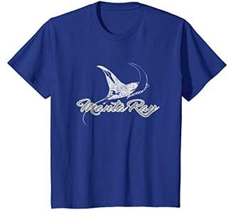 Manta Ray T-Shirt Vintage Style Sea Ray Gift Tee
