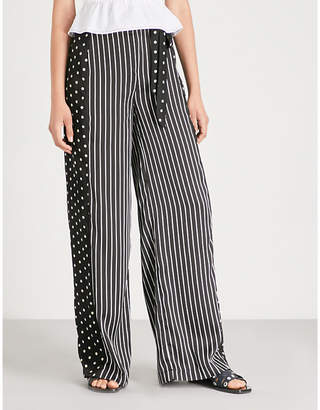Missguided Polka dot striped crepe trousers