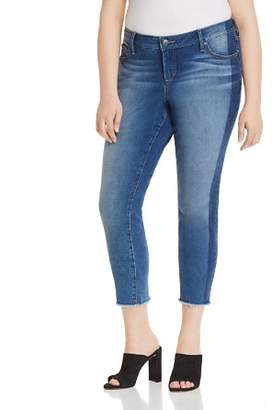 SLINK Jeans Plus SLINK Jeans Frayed Cropped Skinny Jeans in Gwen