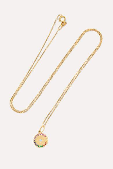 Andrea Fohrman - Full Moon 18-karat Gold Multi-stone Necklace