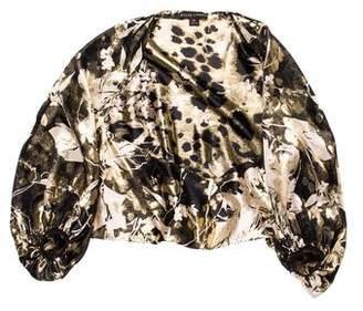 Ralph Lauren Black Label Long Sleeve Silk Top