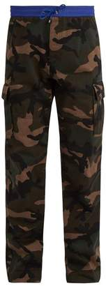 Valentino Camouflage Print Cotton Cargo Trousers - Mens - Camouflage