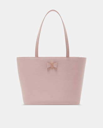 5d304ea90102 Ted Baker DEANIE Bow detail small leather shopper bag