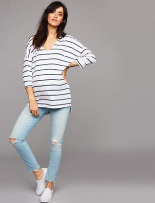 Pea Collection MOTHER Secret Fit Belly Looker Ankle Maternity Jeans