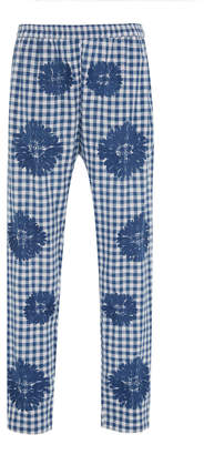 Nimo with Love Vesper Martini Embroidered Floral Cotton Pants
