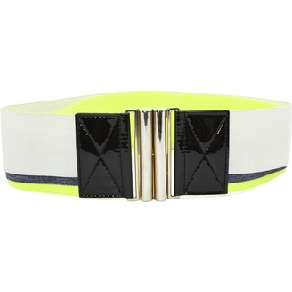 MSGM Yellow Cloth Belts