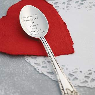 The Cutlery Commission Personalised Silver Plated Table Spoon