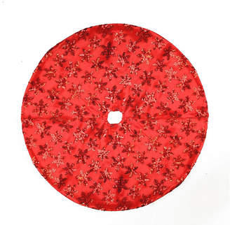 Asstd National Brand 20 Decorative Sequin Snowflake Pattern Mini Christmas Tree Skirt