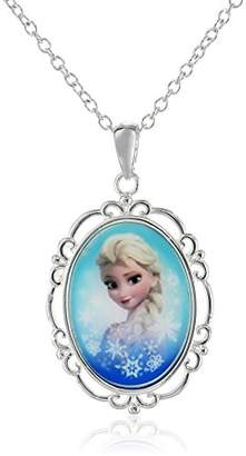 Disney Girls' Frozen -Plated Elsa Pendant Necklace