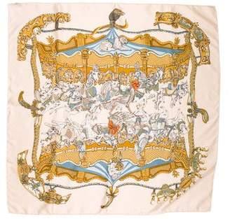 Hermes Tournez Manège Silk Scarf