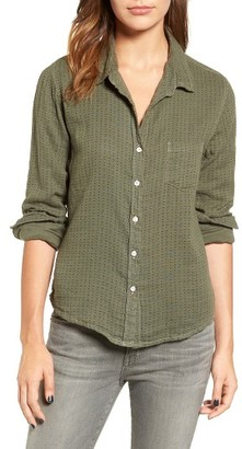 Women's Velvet By Graham & Spencer Cotton Shirt $128 thestylecure.com