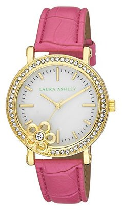 Laura Ashley Women's LA31013PK Analog Display Japanese Quartz Pink Watch $59.99 thestylecure.com