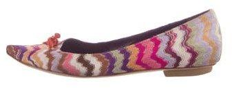 Missoni Pointed-Toe Knit Flats