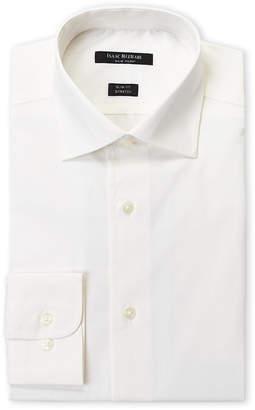 Isaac Mizrahi Ecru Stretch Slim Fit Dress Shirt