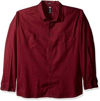 Dickies Men's Long Sleeve Relaxed fit Solid Shirt Big-Tall