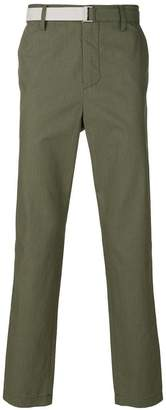 Sacai straight leg pinstripe trousers