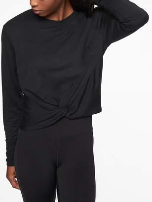 Athleta Twist Front Sweatshirt