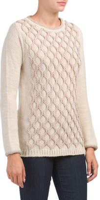 Made In Italy 3d Diamond Pattern Sweater