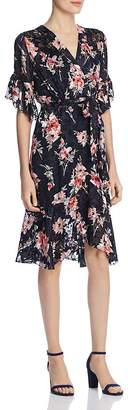 Elie Tahari Isabelle Floral Burnout Dress