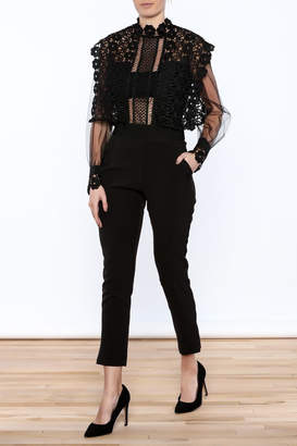 Moon Collection Black Lace Jumper