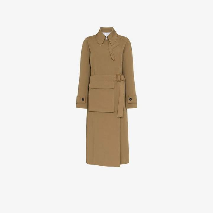 Stafford belted cotton trench coat