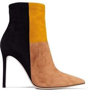 Gianvito Rossi Geneva Color-Block Suede Ankle Boots