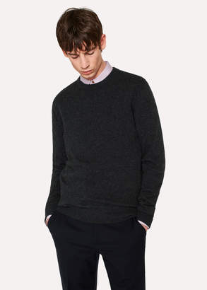 Paul Smith Men's Charcoal Grey Cashmere Sweater