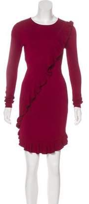 Torn By Ronny Kobo Knee-Length Ruffle Dress