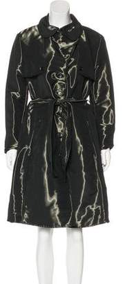 Armani Collezioni Knee-Length Trench Coat