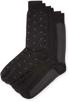 Neiman Marcus 3-Pair Half-Calf Socks Set