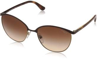 Vogue Women's Metal Woman Sunglass Round