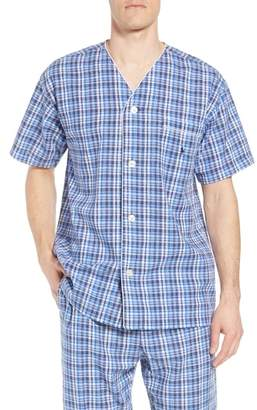 Polo Ralph Lauren Walker Plaid Cotton & Linen Pajama Shirt