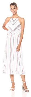 Paris Sunday Women's Skinny Strap Highneck Print Maxi Dress