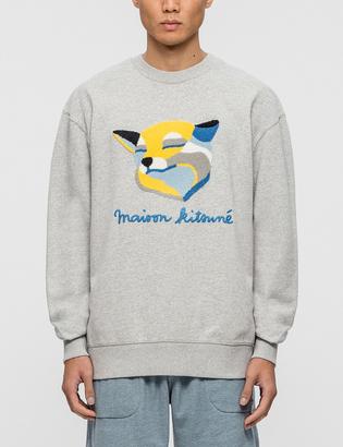 Maison Kitsune Fox Ines Longevial Sweatshirt $195 thestylecure.com