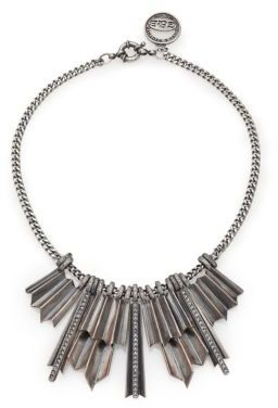 Giles & Brother Ray Burst Pave Crystal Bib Necklace $300 thestylecure.com